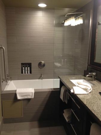 Hotel Terra Jackson Hole, A Noble House Resort: Waterfall Shower, Jacuzzi  Tub,