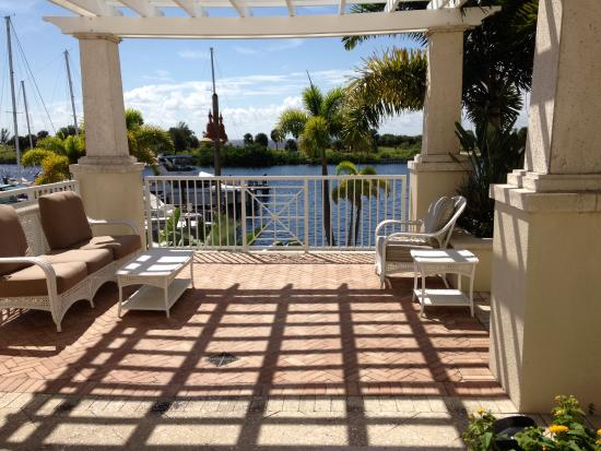 Ruskin, FL: Balcony on 1st floor facing the harbor and Bay