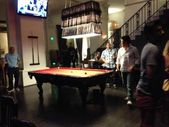 Great Padre Hotel: Pool Table In The Historic Padre Near The Bar