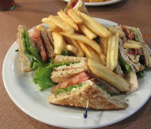 Chubbuck, Idaho: Club Sandwich and Fries, Denny's Diner, Chubbuck, Idaho