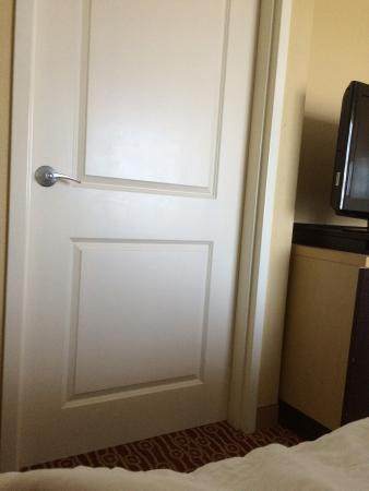 Bathroom Door Right Next To Bed Too Close For Any Privacy Picture Of Towneplace Suites