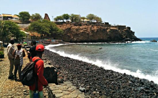 Cidade Velha, Cape Verde: The view to the ocean beyond Pelourinho
