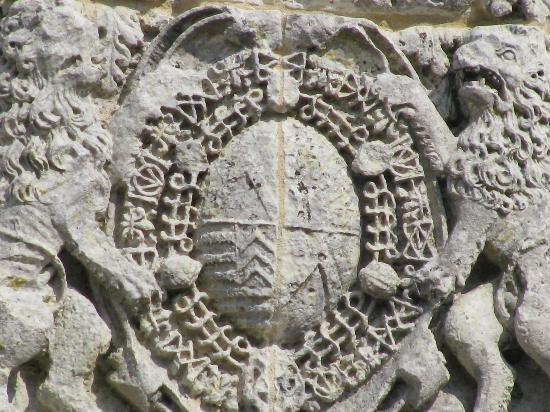 Hiers-Brouage, ฝรั่งเศส: Fronton église,  armes de Mazzarin