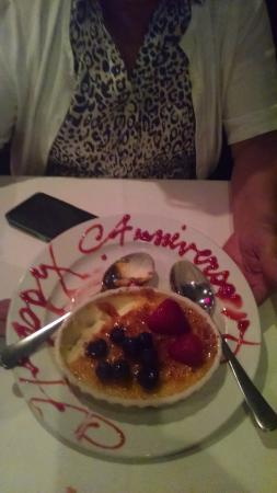 Brazeiros: Creme Brulee compliments of our server.