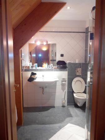 Les Alisiers Hotel-Restaurant : jolie petite salle de bains