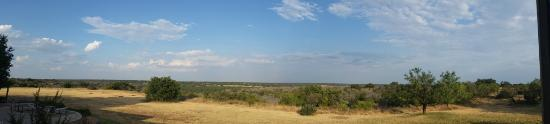 Eldorado, TX: Panorama from Oak Lodge Deck at X Bar Ranch
