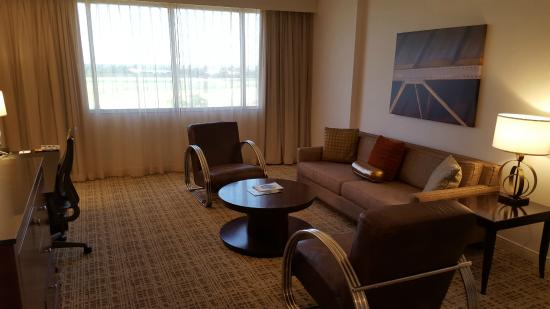Bon Renaissance St. Louis Airport Hotel: Suite Living Room Had Very  Comfortable, Modern Chairs