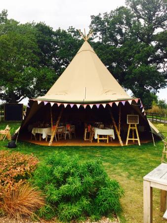 The Pheasantry Brewery, Weddings and Events: Tipi bunting and fairy lights !!!!