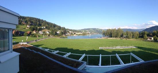 Unteraegeri, Suiza: Blick vom Zimmer