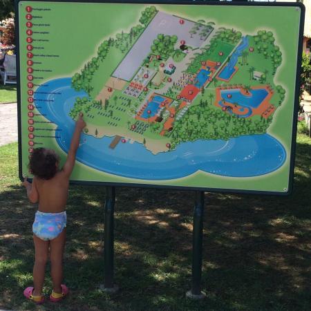 Parco Acquatico Oasi : piantina dell'impianto