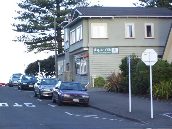 YHA Napier : From the side street