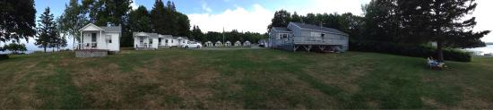 Emery's Cottages on the Shore: A panorama from the shore.