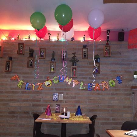 Decoracin cumpleaosHappy Birthday Decoration Picture of La