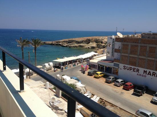 Alia Beach Hotel: vista mare dalla camera all'ultimo piano
