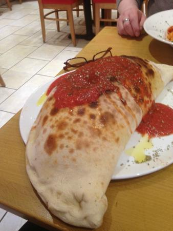Calzone Of Gigantic Proportion Picture Of Pizza Calzone
