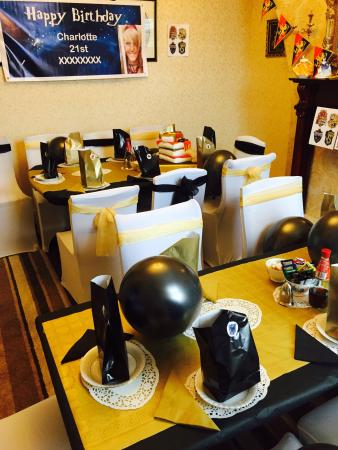Lilys Victorian Tearooms Restaurant Harry Potter Theme 21st Birthday Party