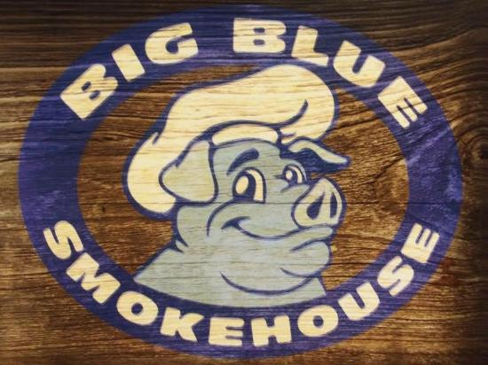 Big Blue Smokehouse: Big Blue BBQ Logo