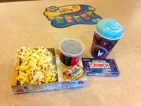 Mays Landing, NJ: 'kids zak pak', with popcorn, candy and drink for like $6