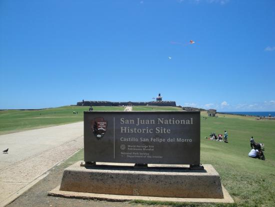 San Juan National Historic Site: fly a kite!