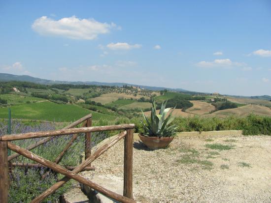 I Melograni del Chianti: Vue devant la villa