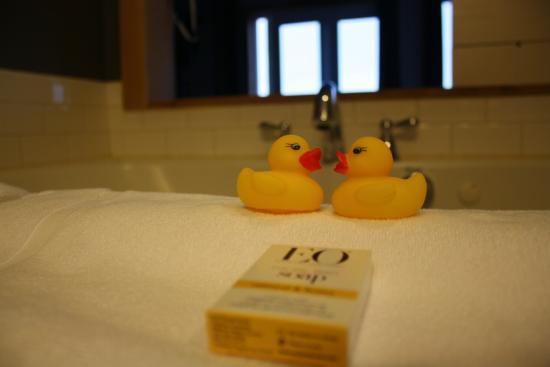 Λονγκ Μπιτς, Ουάσιγκτον: View from the tub.  Nice touch with the duckies