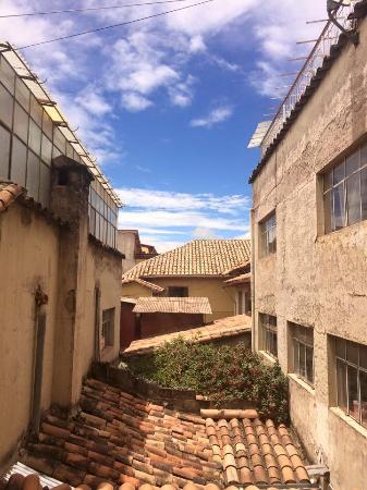 Valicha Wasi: Vista desde habitacion doble, planta baja.