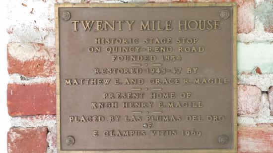 Twenty Mile House Inn: Landmark Plaque