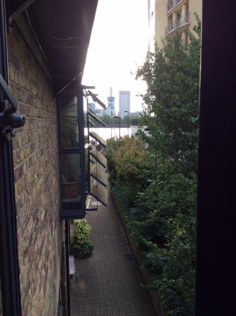 Odessa Wharf: View of the Thames from the living room