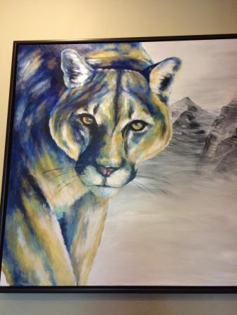 White Buffalo Club - Hotel: Great artwork displayed in the lobby all from Grand Teton Gallery on Broadway.