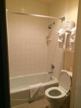 Bathroom picture of best western lamplighter inn for Best bathroom suites reviews