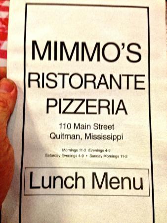 Mimmo S Italian Restaurant Menu
