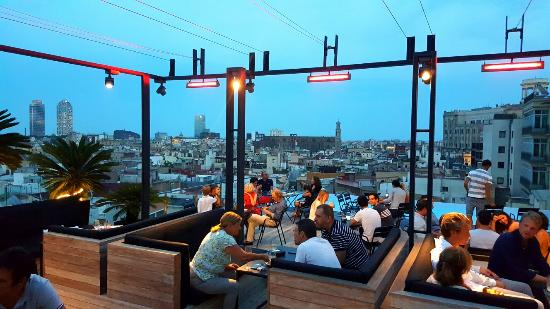 skybar foto di grand hotel central barcellona tripadvisor. Black Bedroom Furniture Sets. Home Design Ideas