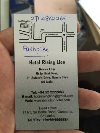 Rising Lion Inn: Mr. Pushpike Visiting Card