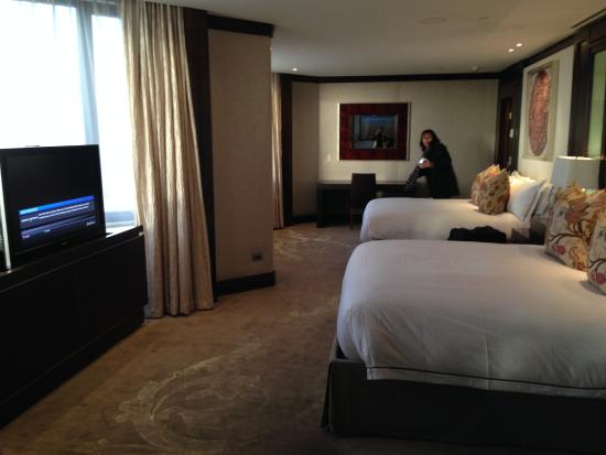 Crown Metropol Perth Main Bedroom With Two Tvs And 2 Queen Size Beds