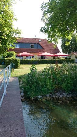Lindow, Alemanha: Vom Steg aus gesehen..