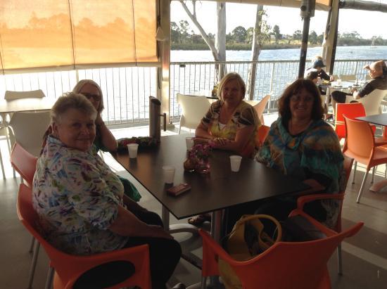 Grunske's: Enjoying the coffee and views.