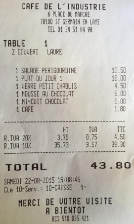 Cafe de l 39 industrie saint germain en laye restaurant - Cours de cuisine saint germain en laye ...