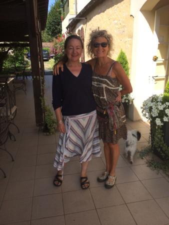 Mauzac-et-Grand-Castang, Francia: Fière d être avec le Chef Amanda hotel restaurant Le Barrage