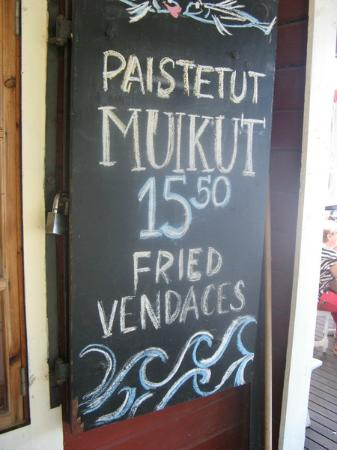 Cafe Rantakivi: Try vendaces - also smoked!