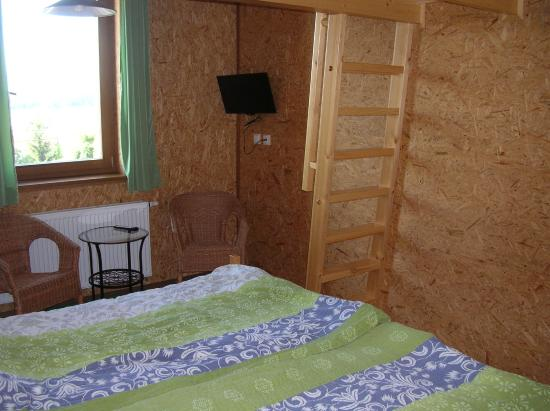 Penzion Vinarstvi Pritluky : Double room, with ladder up to extra 2 beds in the loft