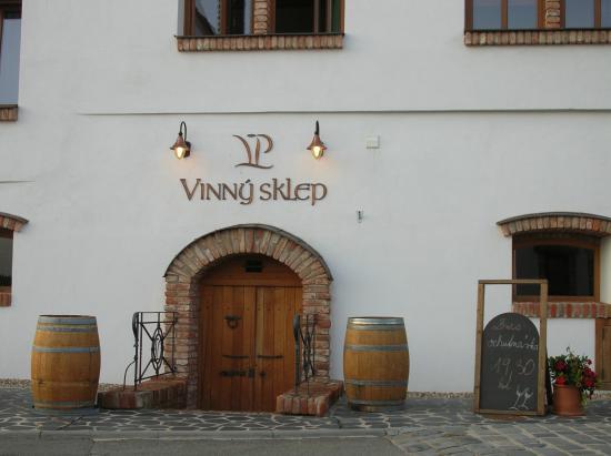 Penzion Vinarstvi Pritluky : Wine cellar where tasting is held