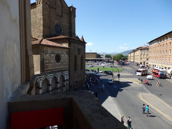 Fiorentino: We could see the train station from our balcony.