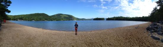 Bristol, NH: Panorama at the beach