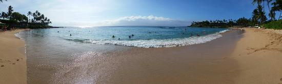 Napili Beach: Panoramic view on 8/22/15.