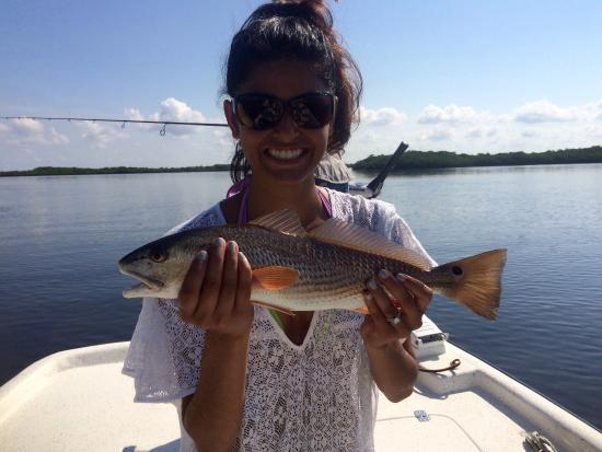 Redfish picture of crystal river fishing adventures for Crystal river fl fishing