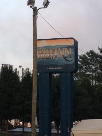 Maggie Valley Inn and Conference Center: The hotel sign from the road