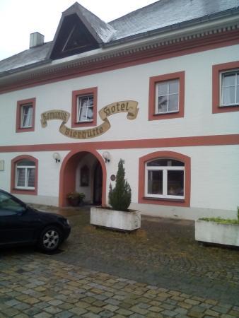 Hotel & Landgasthof Bierhütte: il giardinetto dell'appartamento