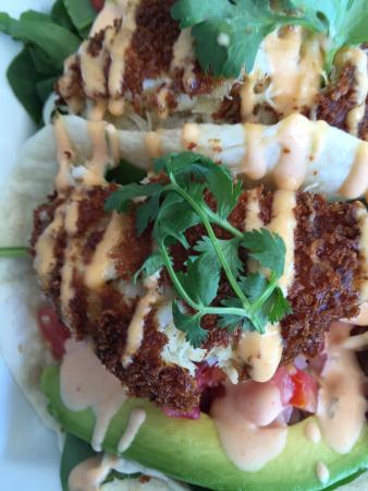 Tisha's: crab cake tacos