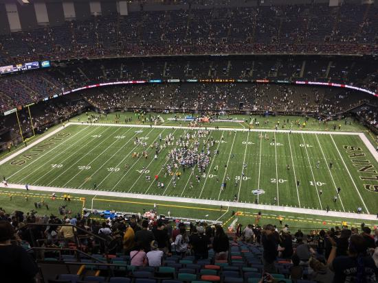 Section 612 row 33 picture of mercedes benz superdome for Hotels near mercedes benz superdome new orleans la