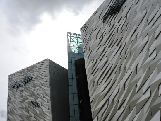 Susie Millar - Titanic Tours Belfast : Titanic Belfast Museum (great view from this glassed in area)